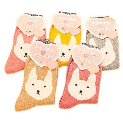5 Paired Women Warm Cute Rabbit Pattern SocksWomens Socks &amp; Hosieries<br>5 Paired Women Warm Cute Rabbit Pattern Socks<br><br>Contents: 5 x Pair of Socks<br>Gender: Women<br>Package size (L x W x H): 24.00 x 4.00 x 8.00 cm / 9.45 x 1.57 x 3.15 inches<br>Package weight: 0.0210 kg<br>Product weight: 0.0200 kg<br>Style: Casual<br>Type: Socks