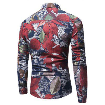 Retro Leaves Motifs ShirtMens Shirts<br>Retro Leaves Motifs Shirt<br><br>Closure Type: Button<br>Material: Cotton, Polyester<br>Occasion: Casual<br>Package Contents: 1 x Shirt<br>Package size: 34.00 x 30.00 x 2.00 cm / 13.39 x 11.81 x 0.79 inches<br>Package weight: 0.2200 kg<br>Product weight: 0.2000 kg