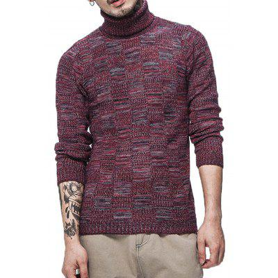 Simple Polo Neck Knitting Sweater