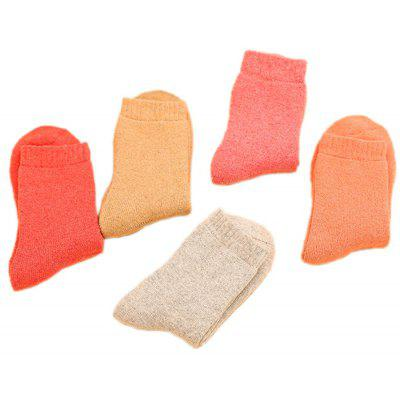 5 Paired Women Simple Solid Color Thicken SocksWomens Socks &amp; Hosieries<br>5 Paired Women Simple Solid Color Thicken Socks<br><br>Contents: 5 x Pair of Socks<br>Gender: Women<br>Package size (L x W x H): 24.00 x 4.00 x 8.00 cm / 9.45 x 1.57 x 3.15 inches<br>Package weight: 0.0210 kg<br>Product weight: 0.0200 kg<br>Style: Casual<br>Type: Socks