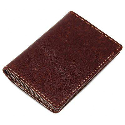Men Minimalist Vintage Look Bifold Leather Wallet