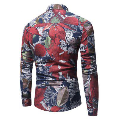 Retro Shirt with Maple Leaves MotifsMens Shirts<br>Retro Shirt with Maple Leaves Motifs<br><br>Closure Type: Button<br>Material: Cotton, Linen<br>Occasion: Casual<br>Package Contents: 1 x Shirt<br>Package size: 40.00 x 30.00 x 4.00 cm / 15.75 x 11.81 x 1.57 inches<br>Package weight: 0.2800 kg<br>Product weight: 0.2500 kg<br>Thickness: Regular