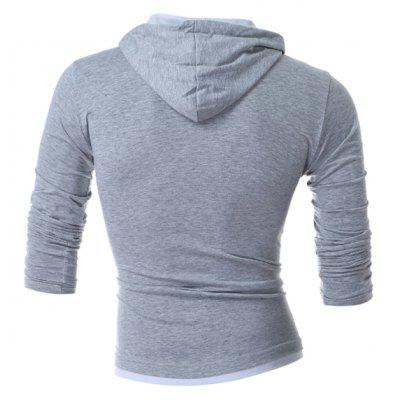 Fashion Long Sleeves Hooded T-shirtMens Long Sleeves Tees<br>Fashion Long Sleeves Hooded T-shirt<br><br>Material: Cotton, Polyester<br>Neckline: Hooded<br>Package Content: 1 x T-shirt<br>Package size: 30.00 x 20.00 x 2.00 cm / 11.81 x 7.87 x 0.79 inches<br>Package weight: 0.2700 kg<br>Product weight: 0.2500 kg<br>Season: Autumn, Spring<br>Sleeve Length: Long Sleeves