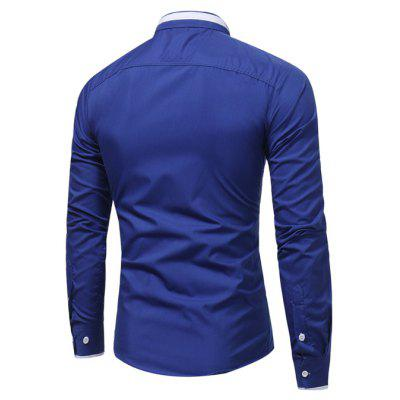 Classic Long Sleeves ShirtMens Shirts<br>Classic Long Sleeves Shirt<br><br>Closure Type: Button<br>Material: Cotton, Polyester<br>Occasion: Casual<br>Package Contents: 1 x Shirt<br>Package size: 30.00 x 20.00 x 1.00 cm / 11.81 x 7.87 x 0.39 inches<br>Package weight: 0.2300 kg<br>Product weight: 0.2100 kg