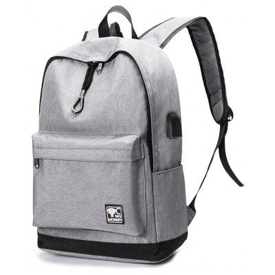 Leisure Nylon Laptop Backpack with USB Port