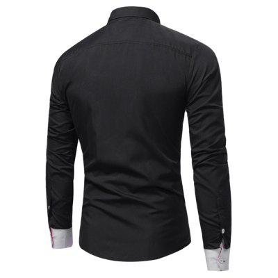Men Stylish Spliced Long Sleeve ShirtMens Shirts<br>Men Stylish Spliced Long Sleeve Shirt<br><br>Closure Type: Button<br>Material: Cotton, Polyester<br>Package Contents: 1 x Shirt<br>Package size: 30.00 x 20.00 x 1.00 cm / 11.81 x 7.87 x 0.39 inches<br>Package weight: 0.2300 kg<br>Product weight: 0.2100 kg<br>Thickness: Regular