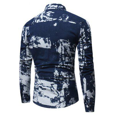 Stylish Shirt with MotifsMens Shirts<br>Stylish Shirt with Motifs<br><br>Closure Type: Button<br>Material: Cotton, Linen<br>Occasion: Casual<br>Package Contents: 1 x Shirt<br>Package size: 40.00 x 30.00 x 4.00 cm / 15.75 x 11.81 x 1.57 inches<br>Package weight: 0.2800 kg<br>Product weight: 0.2500 kg