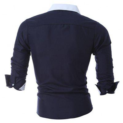 Fashion Stand Collar ShirtMens Shirts<br>Fashion Stand Collar Shirt<br><br>Closure Type: Button<br>Material: Cotton, Polyester<br>Occasion: Casual<br>Package Contents: 1 x Shirt<br>Package size: 30.00 x 20.00 x 2.00 cm / 11.81 x 7.87 x 0.79 inches<br>Package weight: 0.2300 kg<br>Product weight: 0.2100 kg
