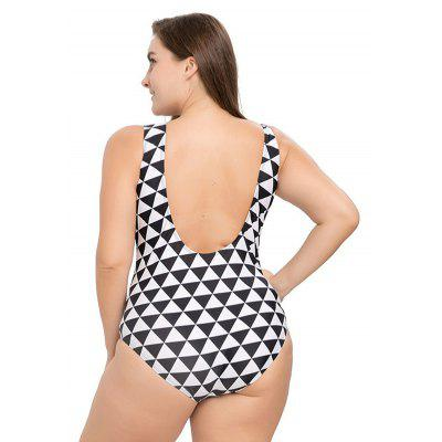 Plus Size One-piece Sheer Geometric Backless SwimsuitsWomens Swimwear<br>Plus Size One-piece Sheer Geometric Backless Swimsuits<br><br>Gender: For Women<br>Material: Polyester<br>Neckline: U Neck<br>Package Contents: 1 x Swimsuits<br>Package size: 22.00 x 19.00 x 6.00 cm / 8.66 x 7.48 x 2.36 inches<br>Package weight: 0.2200 kg<br>Pattern Type: Geometric<br>Product weight: 0.2000 kg<br>Swimwear Type: One Piece