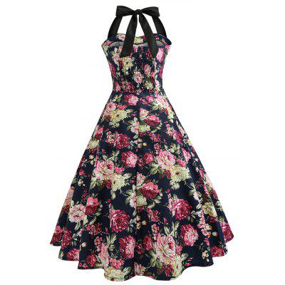 Vintage Elegant Floral Halter Fit Flare DressWomens Dresses<br>Vintage Elegant Floral Halter Fit Flare Dress<br><br>Dresses Length: Maxi<br>Material: Cotton, Polyester<br>Neckline: Sweetheart Neck<br>Package Contents: 1 x Dress<br>Package size: 36.00 x 28.00 x 3.00 cm / 14.17 x 11.02 x 1.18 inches<br>Package weight: 0.2700 kg<br>Pattern Type: Floral<br>Product weight: 0.2500 kg<br>Season: Summer, Fall, Spring, Winter<br>Silhouette: Fit and Flare<br>Sleeve Length: Sleeveless<br>Sleeve Type: Cold Shoulder<br>Style: Vintage<br>Waist: Empire<br>With Belt: No
