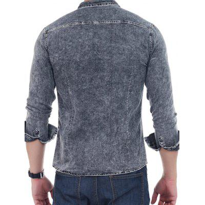 Fashion Long Sleeves Denim ShirtMens Shirts<br>Fashion Long Sleeves Denim Shirt<br><br>Closure Type: Button<br>Material: Cotton, Polyester<br>Occasion: Casual<br>Package Contents: 1 x Shirt<br>Package size: 30.00 x 20.00 x 2.00 cm / 11.81 x 7.87 x 0.79 inches<br>Package weight: 0.3200 kg<br>Product weight: 0.3000 kg<br>Thickness: Regular