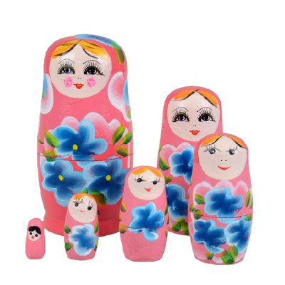 WUIBN Russian Nesting Matryoshka Dolls Toy Decoration 6pcs