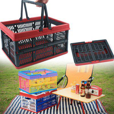 Outdoor Storage Basket Folding Collapsible Hamper OrganizerStorage Boxes &amp; Bins<br>Outdoor Storage Basket Folding Collapsible Hamper Organizer<br><br>Functions: Bedroom, Car, Home, Kitchen, Living Room, Travel<br>Materials: PP<br>Package Contents: 1 x Storage Basket<br>Package Size(L x W x H): 43.00 x 36.00 x 6.00 cm / 16.93 x 14.17 x 2.36 inches<br>Package weight: 1.5000 kg<br>Product Size(L x W x H): 45.00 x 35.00 x 23.00 cm / 17.72 x 13.78 x 9.06 inches<br>Product weight: 1.4800 kg<br>Types: Storage Boxes and Bins