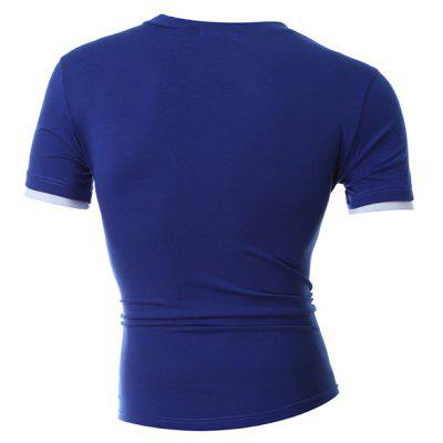 Short Sleeves Fake Two Piece T-shirtMens Short Sleeve Tees<br>Short Sleeves Fake Two Piece T-shirt<br><br>Material: Cotton, Polyester<br>Neckline: V Neck<br>Package Content: 1 x T-shirt<br>Package size: 30.00 x 20.00 x 2.00 cm / 11.81 x 7.87 x 0.79 inches<br>Package weight: 0.2000 kg<br>Product weight: 0.1800 kg<br>Season: Summer<br>Sleeve Length: Short Sleeves<br>Style: Casual