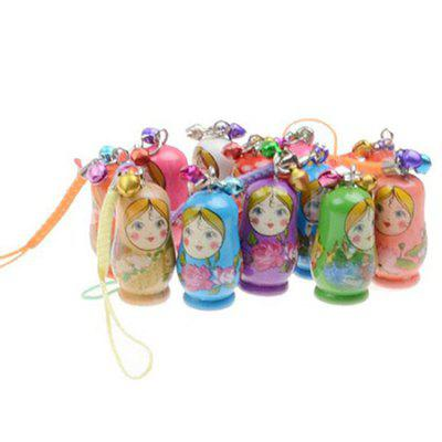 WUIBN Wooden Russian Nesting Matryoshka Dolls with Bell Gift 12pcs