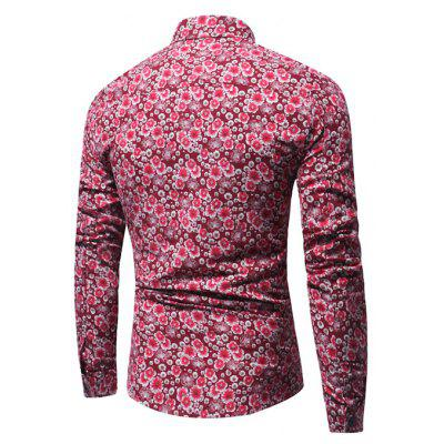 Men Stylish Flower Printed Long Sleeve ShirtMens Shirts<br>Men Stylish Flower Printed Long Sleeve Shirt<br><br>Closure Type: Button<br>Material: Cotton, Linen<br>Package Contents: 1 x Shirt<br>Package size: 40.00 x 30.00 x 4.00 cm / 15.75 x 11.81 x 1.57 inches<br>Package weight: 0.2800 kg<br>Product weight: 0.2500 kg<br>Thickness: Regular
