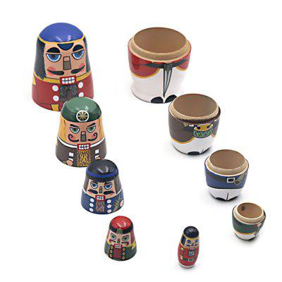 WUIBN Russian Nesting Matryoshka Doll Soldier Toy Gift 5pcsMovies &amp; TV Action Figures<br>WUIBN Russian Nesting Matryoshka Doll Soldier Toy Gift 5pcs<br><br>Brand: WUIBN<br>Completeness: Finished Goods<br>Gender: Unisex<br>Materials: Wood<br>Package Contents: 5 x Nesting Doll<br>Package size: 6.50 x 6.50 x 15.00 cm / 2.56 x 2.56 x 5.91 inches<br>Package weight: 0.2300 kg<br>Product weight: 0.2100 kg<br>Stem From: Other<br>Theme: Military
