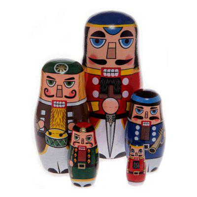 WUIBN Russian Nesting Matryoshka Doll Soldier Toy Gift 5pcs