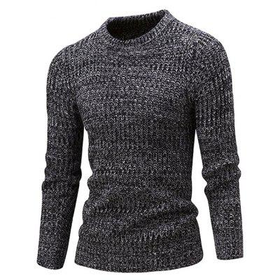 Simple Round Neck Knitting Sweater
