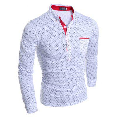 Fashion Dot Motifs Polo ShirtMens T-shirts<br>Fashion Dot Motifs Polo Shirt<br><br>Material: Cotton, Polyester<br>Neckline: Turn-down Collar<br>Package Content: 1 x Polo Shirt<br>Package size: 30.00 x 20.00 x 2.00 cm / 11.81 x 7.87 x 0.79 inches<br>Package weight: 0.2500 kg<br>Product weight: 0.2300 kg<br>Season: Spring, Autumn<br>Sleeve Length: Long Sleeves<br>Style: Casual