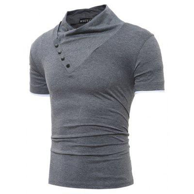 Fashion Solid Color Short Sleeves T-shirtMens Short Sleeve Tees<br>Fashion Solid Color Short Sleeves T-shirt<br><br>Material: Cotton, Polyester<br>Neckline: V Neck<br>Package Content: 1 x T-shirt<br>Package size: 30.00 x 20.00 x 2.00 cm / 11.81 x 7.87 x 0.79 inches<br>Package weight: 0.2300 kg<br>Product weight: 0.2100 kg<br>Season: Summer<br>Sleeve Length: Short Sleeves<br>Style: Casual