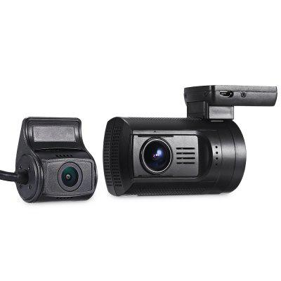 Mini 0906 Car Dual Lens DVR 1080P FHD Dashová kamera