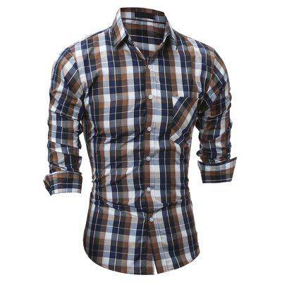 Men Leisure Long Sleeve Button Down Plaid ShirtMens Shirts<br>Men Leisure Long Sleeve Button Down Plaid Shirt<br><br>Closure Type: Button<br>Material: Cotton, Polyester<br>Package Contents: 1 x Shirt<br>Package size: 30.00 x 20.00 x 1.00 cm / 11.81 x 7.87 x 0.39 inches<br>Package weight: 0.2300 kg<br>Product weight: 0.2100 kg