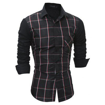 Men Fashion Long Sleeve Plaid ShirtMens Shirts<br>Men Fashion Long Sleeve Plaid Shirt<br><br>Closure Type: Button<br>Material: Cotton, Polyester<br>Package Contents: 1 x Shirt<br>Package size: 30.00 x 25.00 x 2.00 cm / 11.81 x 9.84 x 0.79 inches<br>Package weight: 0.2300 kg<br>Product weight: 0.2100 kg<br>Style: Casual