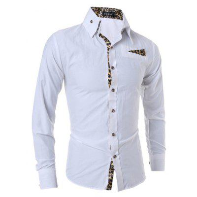 Men Fashion Long Sleeve Splicing Leopard Print ShirtMens Shirts<br>Men Fashion Long Sleeve Splicing Leopard Print Shirt<br><br>Closure Type: Button<br>Material: Cotton, Polyester<br>Package Contents: 1 x Shirt<br>Package size: 30.00 x 20.00 x 1.00 cm / 11.81 x 7.87 x 0.39 inches<br>Package weight: 0.2400 kg<br>Product weight: 0.2200 kg<br>Style: Casual<br>Thickness: Regular
