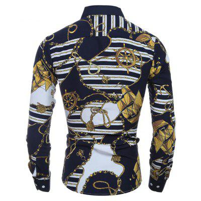 Men Stylish Printed Long Sleeve Button Down ShirtMens Shirts<br>Men Stylish Printed Long Sleeve Button Down Shirt<br><br>Closure Type: Button<br>Material: Cotton, Polyester<br>Package Contents: 1 x Shirt<br>Package size: 30.00 x 20.00 x 1.00 cm / 11.81 x 7.87 x 0.39 inches<br>Package weight: 0.2300 kg<br>Product weight: 0.2100 kg<br>Style: Casual