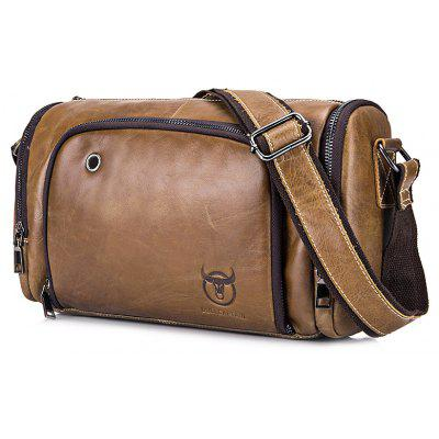 Buy BROWN BULLCAPTAIN Men Leisure Genuine Leather Shoulder Bag for $34.89 in GearBest store