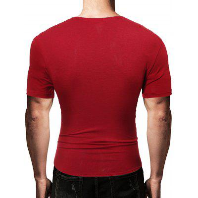 Men Leisure Splicing Round Neck Short Sleeve T-shirtMens Short Sleeve Tees<br>Men Leisure Splicing Round Neck Short Sleeve T-shirt<br><br>Fabric Type: Polyester, Cotton<br>Neckline: Round Neck<br>Package Content: 1 x T-shirt<br>Package size: 30.00 x 20.00 x 1.00 cm / 11.81 x 7.87 x 0.39 inches<br>Package weight: 0.2300 kg<br>Product weight: 0.2100 kg<br>Season: Summer<br>Sleeve Length: Short Sleeves<br>Style: Fashion, Casual