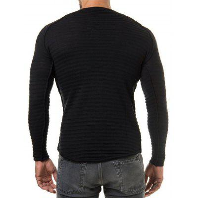 Men Stylish Round Neck Long Sleeves Cardigan SweaterMens Sweaters &amp; Cardigans<br>Men Stylish Round Neck Long Sleeves Cardigan Sweater<br><br>Material: Cotton, Polyester<br>Occasion: Casual<br>Package Contents: 1 x Sweater<br>Package size: 30.00 x 20.00 x 1.00 cm / 11.81 x 7.87 x 0.39 inches<br>Package weight: 0.2500 kg<br>Pattern: Solid Color<br>Product weight: 0.2300 kg