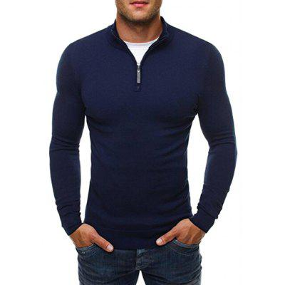 Men Stylish Solid Color Long Sleeves Cardigan Sweater