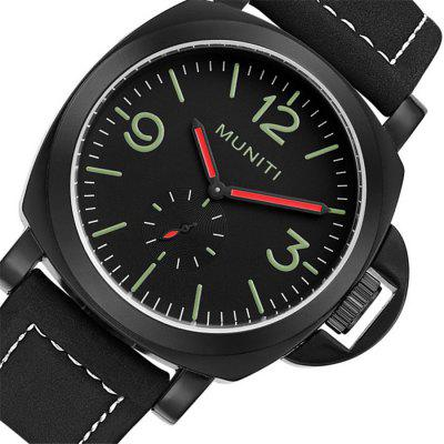 MUNITI 1008G Trendy Leather Band Men Quartz WatchMens Watches<br>MUNITI 1008G Trendy Leather Band Men Quartz Watch<br><br>Band material: Leather<br>Band size: 24.5 x 2.2cm<br>Brand: MUNITI<br>Case material: Alloy<br>Clasp type: Pin buckle<br>Dial size: 4.6 x 4.6 x 1.3cm<br>Display type: Analog<br>Movement type: Quartz watch<br>Package Contents: 1 x Watch, 1 x Box<br>Package size (L x W x H): 28.00 x 8.00 x 3.50 cm / 11.02 x 3.15 x 1.38 inches<br>Package weight: 0.1070 kg<br>Product size (L x W x H): 24.50 x 4.60 x 1.30 cm / 9.65 x 1.81 x 0.51 inches<br>Product weight: 0.0770 kg<br>Shape of the dial: Round<br>Watch mirror: Mineral glass<br>Watch style: Fashion<br>Watches categories: Men
