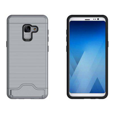 Contracted Stand Cover for Samsung Galaxy A5 2018Contracted Stand Cover for Samsung Galaxy A5 2018<br><br>Features: Anti-knock, Back Cover, Cases with Stand, Dirt-resistant, With Credit Card Holder<br>For: Samsung Mobile Phone<br>Material: TPU, PC<br>Package Contents: 1 x Case<br>Package size (L x W x H): 18.00 x 10.00 x 3.00 cm / 7.09 x 3.94 x 1.18 inches<br>Package weight: 0.0800 kg<br>Product size (L x W x H): 15.50 x 8.00 x 1.50 cm / 6.1 x 3.15 x 0.59 inches<br>Product weight: 0.0600 kg<br>Style: Modern