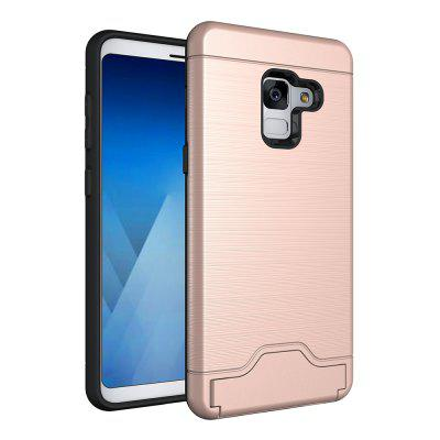 Contracted Stand Cover for Samsung Galaxy A8 Plus 2018