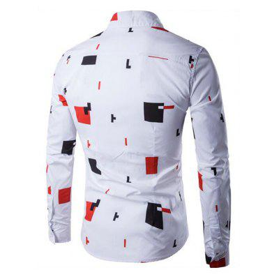 CTSmart Geometric Print Long Sleeve Button Down Shirt рубашка поло la martina рубашка поло
