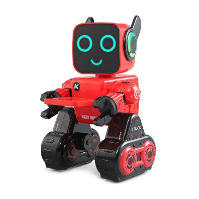 JJRC R4 Multifunctional Voice-activated Intelligent RC RobotRC Robot<br>JJRC R4 Multifunctional Voice-activated Intelligent RC Robot<br><br>Age: Above 8 years old<br>Charging Time: 1.5 Hours<br>Features: 2.4GHz Remote Control<br>Functions: Forward/backward, Turn left/right<br>Material: ABS/PS<br>Model Power: Built-in rechargeable battery<br>Operation Time: 1 hour<br>Package Contents: 1 x RC Robot, 1 x Remote Controller, 1 x Key, 1 x Tray, 1 x USB Cable, 1 x English Manual<br>Package size (L x W x H): 21.50 x 15.00 x 32.00 cm / 8.46 x 5.91 x 12.6 inches<br>Package weight: 1.0210 kg<br>Product size (L x W x H): 17.00 x 14.00 x 25.50 cm / 6.69 x 5.51 x 10.04 inches<br>Product weight: 0.6160 kg<br>Transmitter Power: 2 x AAA battery(not included)
