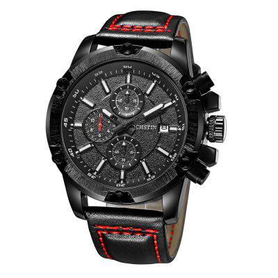 OCHSTIN 6075G Leather Band Men Quartz WatchMens Watches<br>OCHSTIN 6075G Leather Band Men Quartz Watch<br><br>Band material: Leather<br>Band size: 24 x 2cm<br>Brand: OCHSTIN<br>Case material: Alloy<br>Clasp type: Pin buckle<br>Dial size: 4.6 x 4.6 x 1.3cm<br>Display type: Analog<br>Movement type: Quartz watch<br>Package Contents: 1 x Watch<br>Package size (L x W x H): 26.00 x 6.60 x 3.30 cm / 10.24 x 2.6 x 1.3 inches<br>Package weight: 0.1000 kg<br>Product size (L x W x H): 24.00 x 4.60 x 1.30 cm / 9.45 x 1.81 x 0.51 inches<br>Product weight: 0.0800 kg<br>Shape of the dial: Round<br>Watch mirror: Mineral glass<br>Watch style: Fashion<br>Watches categories: Men<br>Water resistance: 30 meters