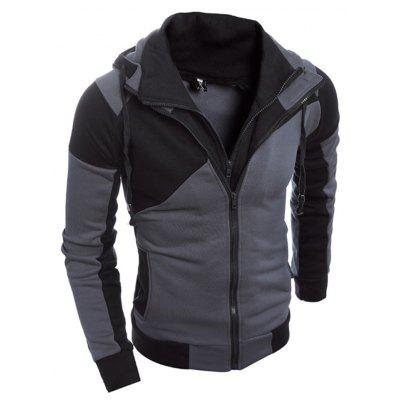 Men Trendy Splicing Long Sleeve Hoodie Jacket men