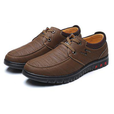 Men Stylish Daily Grained Casual Leather Shoes