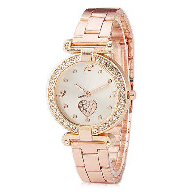 Women Diamond Love Decor Alloy Band Quartz WatchWomens Watches<br>Women Diamond Love Decor Alloy Band Quartz Watch<br><br>Band material: Alloys<br>Case material: Steel<br>Clasp type: Folding clasp with safety<br>Display type: Analog<br>Movement type: Quartz watch<br>Package Contents: 1 x Watch, 1 x Box, 1 x Watch, 1 x Box<br>Package size (L x W x H): 8.00 x 7.50 x 5.50 cm / 3.15 x 2.95 x 2.17 inches, 8.00 x 7.50 x 5.50 cm / 3.15 x 2.95 x 2.17 inches<br>Package weight: 0.0800 kg, 0.0800 kg<br>Product size (L x W x H): 21.50 x 2.80 x 1.00 cm / 8.46 x 1.1 x 0.39 inches, 21.50 x 2.80 x 1.00 cm / 8.46 x 1.1 x 0.39 inches<br>Product weight: 0.0500 kg, 0.0500 kg<br>Shape of the dial: Round<br>Watch mirror: Acrylic<br>Watch style: Business, Classic, Casual, Fashion<br>Watches categories: Women<br>Water resistance: Life water resistant, Life water resistant