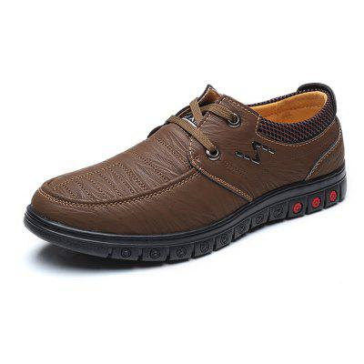 Men Stylish Daily Grained Casual Leather Shoes men