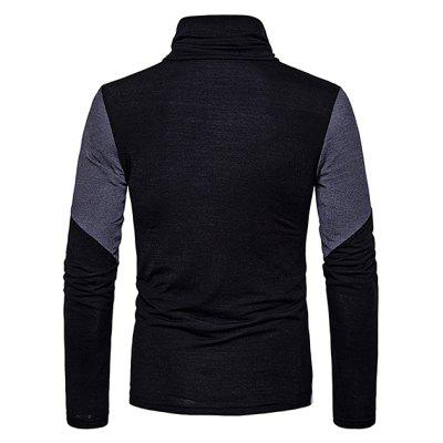 Men Stylish Color Block Long Sleeves Sweater men