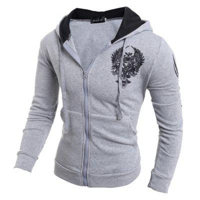 Men Trendy Printed Long Sleeve HoodieMens Hoodies &amp; Sweatshirts<br>Men Trendy Printed Long Sleeve Hoodie<br><br>Closure Type: Zipper<br>Clothes Type: Hoodie<br>Material: Cotton, Polyester<br>Package Contents: 1 x Hoodie<br>Package size: 30.00 x 20.00 x 2.00 cm / 11.81 x 7.87 x 0.79 inches<br>Package weight: 0.3500 kg<br>Product weight: 0.3300 kg<br>Style: Casual