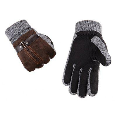Men\'s Leather Thicken Gloves for Winter Driving men genuine leather gloves male thin sheepskin gloves male leather gloves men leather driving gloves