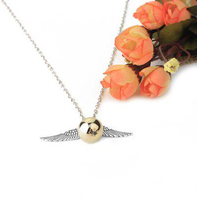 Trendy Wing Ball Pendant Unisex NeckalceNecklaces &amp; Pendants<br>Trendy Wing Ball Pendant Unisex Neckalce<br><br>Package Contents: 1 x Necklace<br>Package size (L x W x H): 6.00 x 6.00 x 6.00 cm / 2.36 x 2.36 x 2.36 inches<br>Package weight: 0.0300 kg<br>Product weight: 0.0200 kg<br>Style: Fashion<br>Type: Necklaces