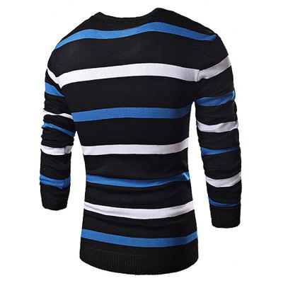 Men Stylish Stripe V-neck Long Sleeves SweaterMens Sweaters &amp; Cardigans<br>Men Stylish Stripe V-neck Long Sleeves Sweater<br><br>Material: Cotton, Polyester<br>Package Contents: 1 x Sweater<br>Package size: 35.00 x 25.00 x 2.00 cm / 13.78 x 9.84 x 0.79 inches<br>Package weight: 0.3700 kg<br>Product weight: 0.3500 kg<br>Style: Casual, Classic