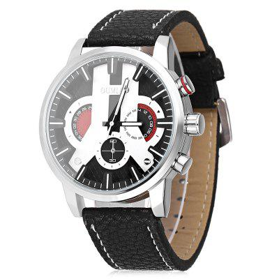 OUMIAO 8025 Leather Band Men Quartz Watch ��������